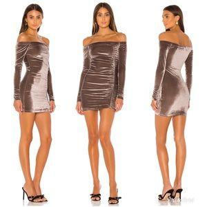 Superdown Velvet Long Sleeve Bodycon Mini Dress M